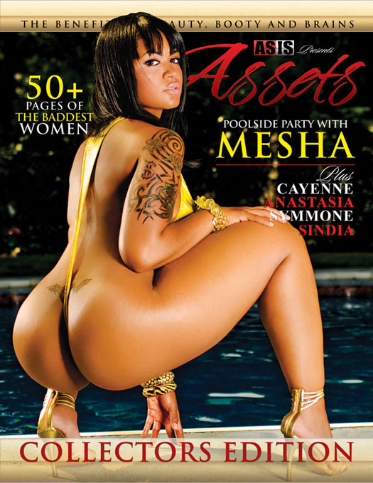 Mesha on cover of As Is presents Assets