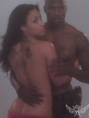 "Nikki ""HoopZ"" and OchoChinco: coupled up for Urban Ink shoot"