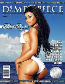 Blac Chyna on cover of Dimepiece