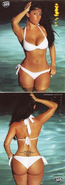 Pic of the Day: Sagia Castaneda in HipHopWeekly – scan by The305.com