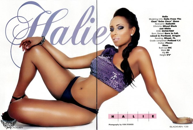 Halie in latest issue of Blackmen Magazine