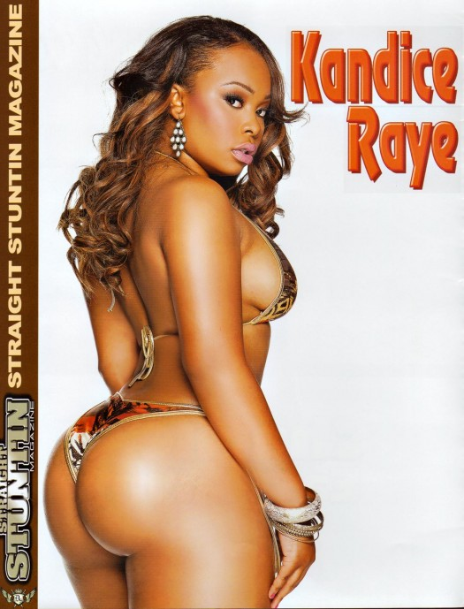 Kandice Raye in the latest issue of Straight Stuntin - courtesy of Facet Studio
