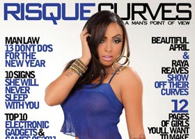 Kameron Dash on the cover of Risque Curves