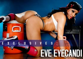 Eve Eyecandi: Spot on the Bench – courtesy of Linkz Photo