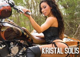 Kristal Solis on cover of Custom Street Bikes Magazine