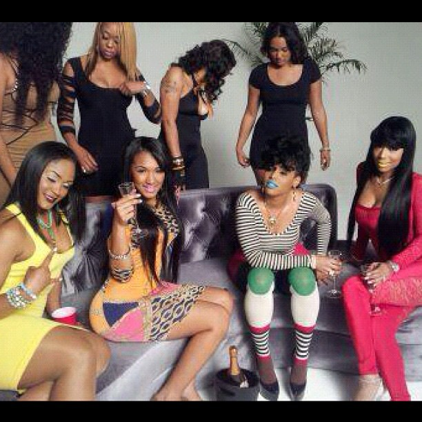 "Maliah Michel @IamMaliahMichel, Keyshia Ka'oir @KeyshiaKaoir, & Yaris Sanchez @Yaris_Sanchez in Yo Gotti's ""Got That Stack"""