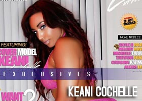 Keani Cochelle @Keani_Cochelle on the cover of Exquisite Curves Magazine