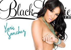 Yaris Sanchez @yaris_sanchez on the cover of SHOW Black Lingerie