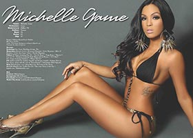 Michelle Game @MichelleGame in Blackmen Magazine