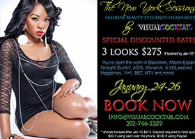 Visual Cocktail Shooting in NY January 24 – 26