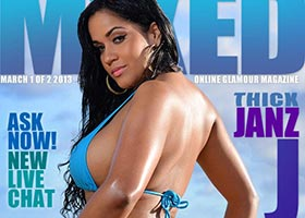 Janz J @MszJanz on the cover of Mixed Magazine