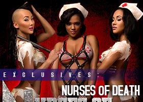 Nurses of Death – Blackmen Magazine – Brittany Dailey @BrittanyDailey, Gracie @Graciii3, and Sophia Marie @IAmSophiaMarie