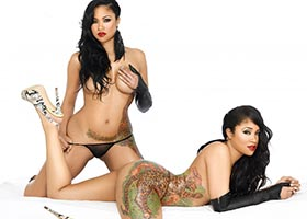 The Brooks Twins @THEBROOKSTWINS in latest issue of Black Lingerie