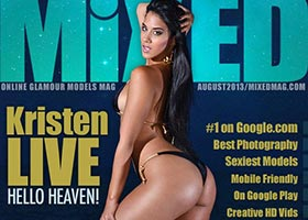 Kristen Live @KristenLive on the August cover of Mixed Magazine