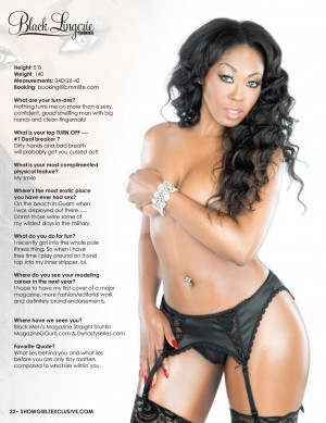 Black Lingerie - Issue 20 Part A