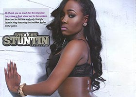 LoveLyn @_LoveLYN_ in Straight Stuntin Issue #33