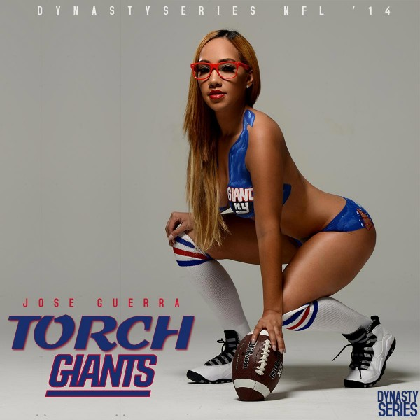 Torch @torch_ofloyalty - NFL Bodypaint 2014 - NY Giants - Jose Guerra