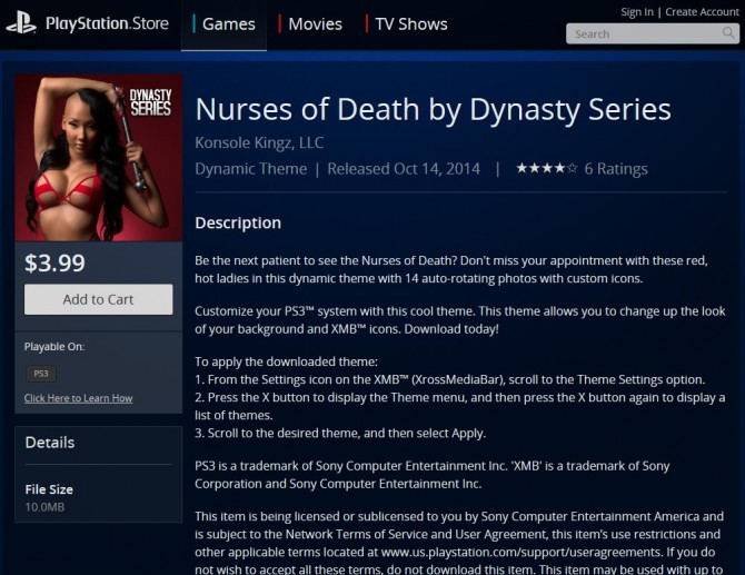 Nurses of Death PlayStation 3 Theme Available Now