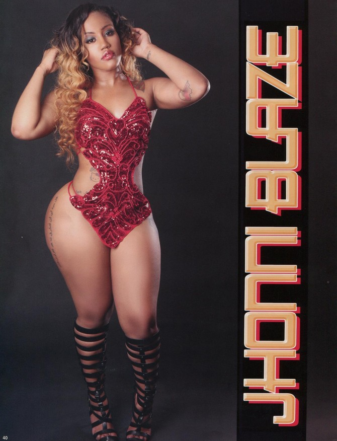 Jhonni Blaze @realjhonniblaze in Straight Stuntin Issue 34