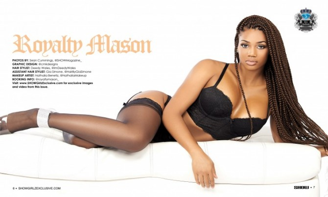 Royalty Mason @royaltymason_  in Black Lingerie #22