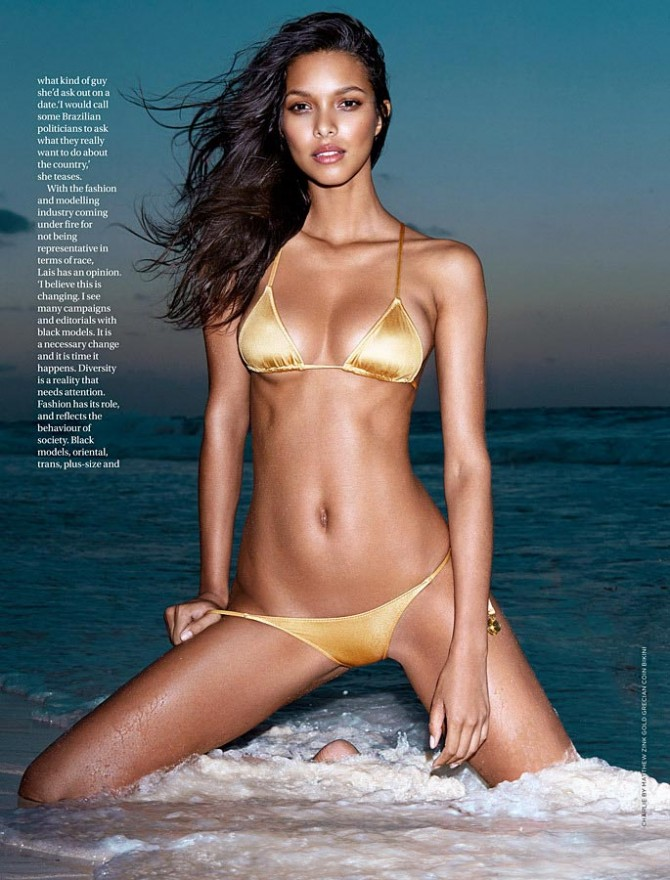 Lais Ribeiro in GQ South Africa