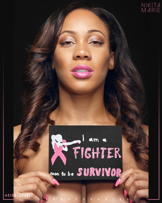 Nikita Marie @_nikitamarie: I Am A Fighter – Breast Cancer Awareness Month