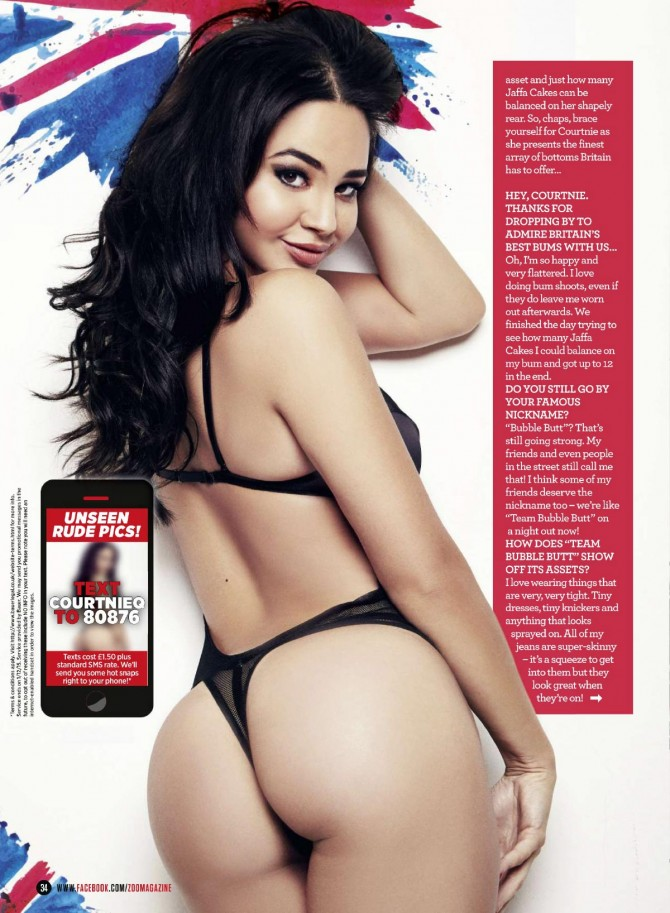 Courtnie Quinlan @CourtnieQ on cover of Zoo Magazine