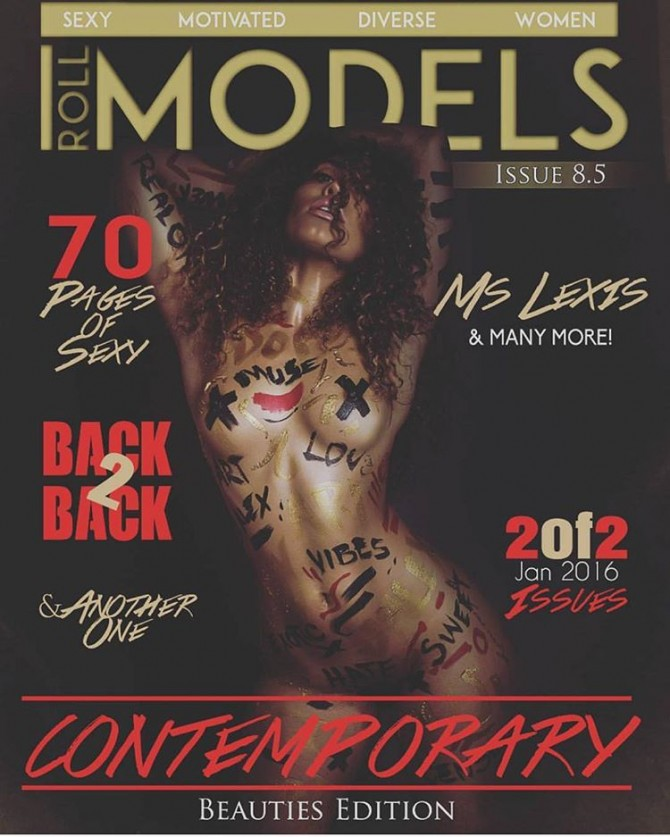 Ms. Lexis @mslexisss on cover of Roll Models Magazine – J. Alex Photos