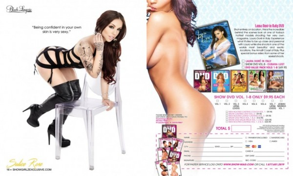 Salice Rose in SHOW Magazine Black Lingerie