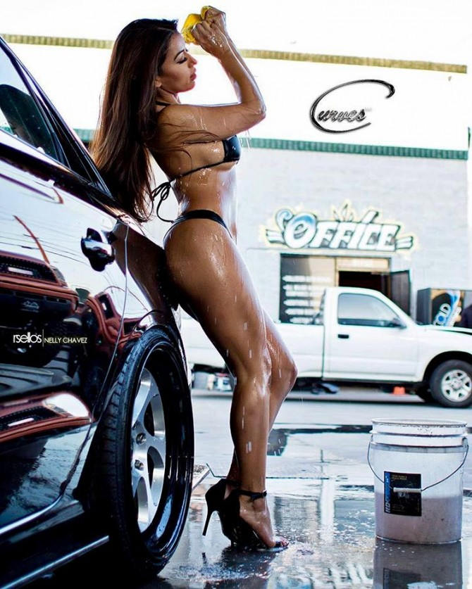 Nelly Chavez: Who Need's Their Car Washed x CurvesENT