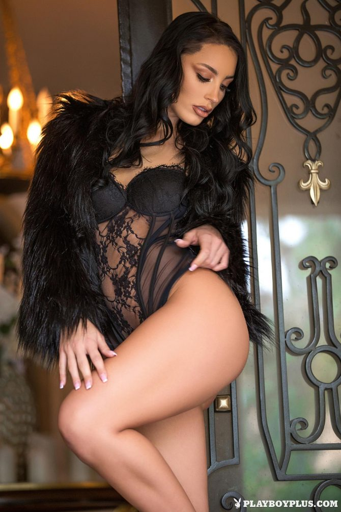 Kendra Cantara in Front Door Strip – Playboy