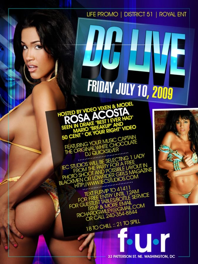 Rosa Acosta this Friday in DC