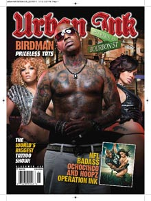 Hoopz, Cubana Lust, and Kimbella on cover of Urban Ink