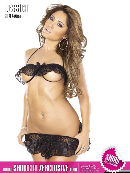 Jessica Burciaga from Black Lingerie on ShowGirlzExclusive.com