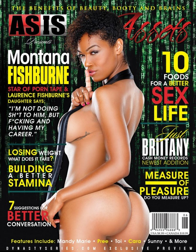 Montana Fishburne on the next cover of Assets Magazine – courtesy of Facet Studio