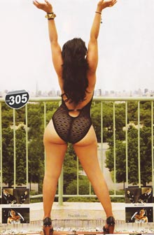 Tahiry is XXL Eyecandy of the Month – scans courtesy of the305.com