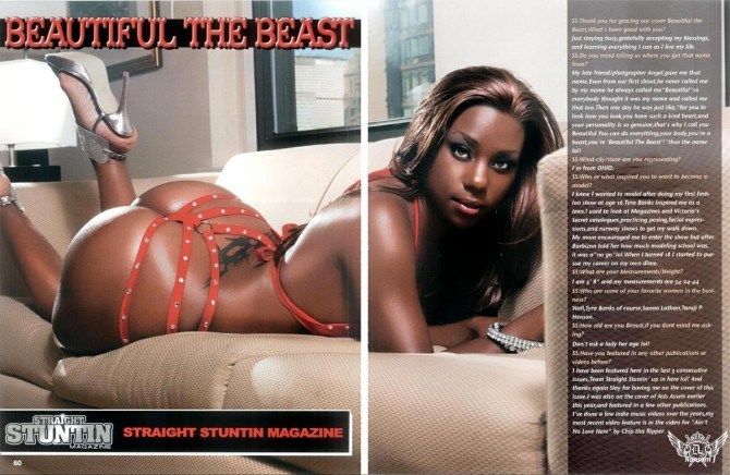 Beautiful the Beast in the latest issue of Straight Stuntin