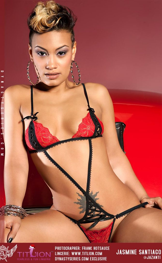 More Pics of Jasmine Santiago: Red Bentley – courtesy of Frank Hotsauce and Titlion Lingerie