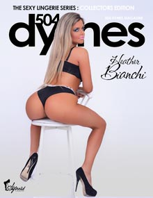 Pic of the Day: Heather Bianchi on cover of 504 Dymes – courtesy of C.E. Wiley