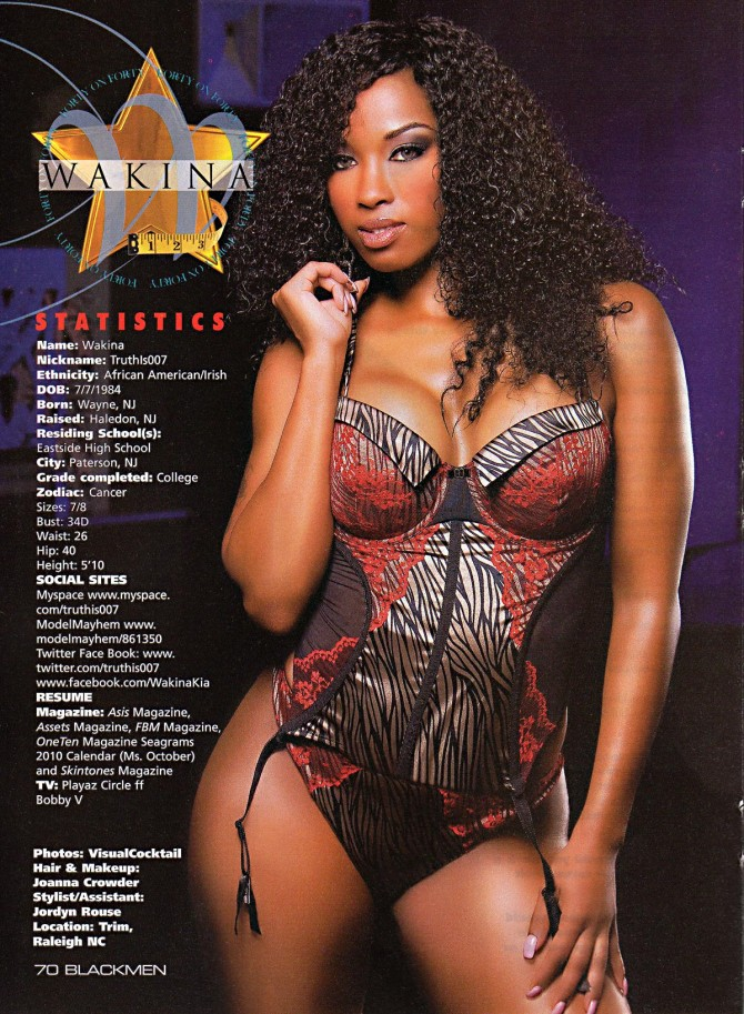 Wakina in 40 on 40 issue of Blackmen – courtesy of Visual Cocktail