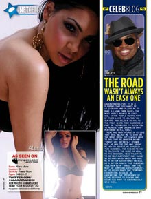 Pic of the Day: Alana Marie in HipHopWeekly – courtesy of TheWizsDailyDose