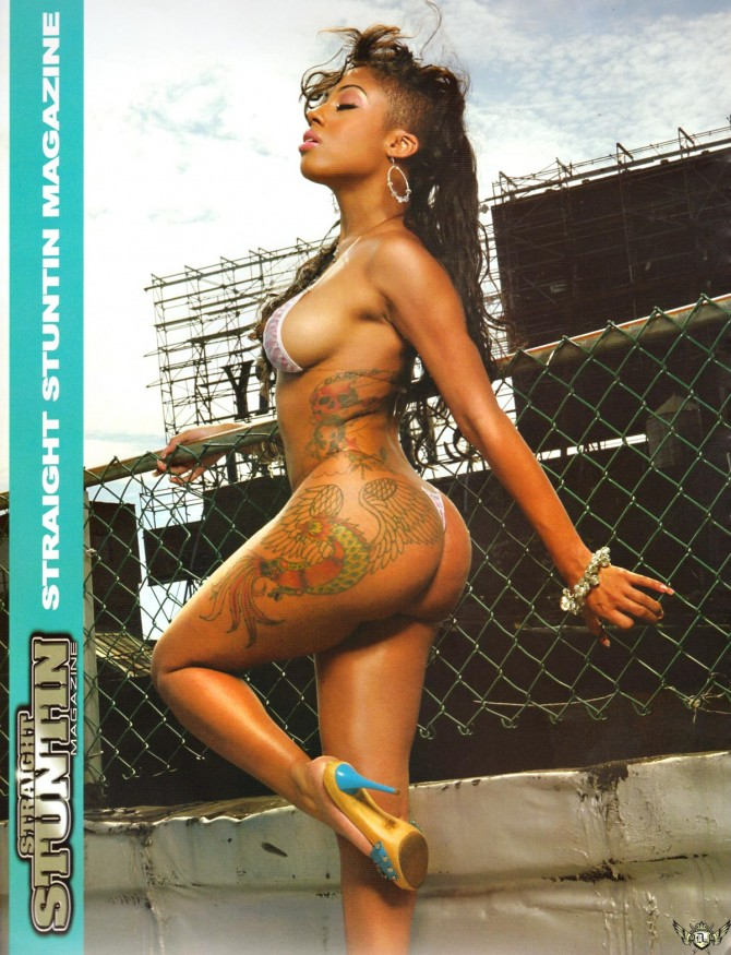 Ashle Danger in the latest issue of Straight Stuntin