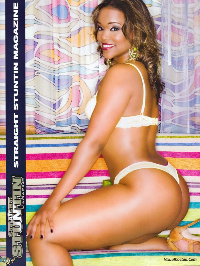 Trina in the latest issue of Straight Stuntin – courtesy of Visual Cocktail