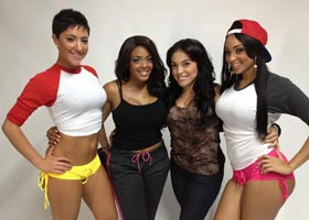 Behind the Scenes with Laeann Amos and Kali Lynn shooting for T.I.T.S. – courtesy of Arabelle Modeling