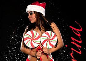 DynastySeries Christmas – More Pics of Karina Lopez: Christmas Candy – courtesy of Frank D Photo