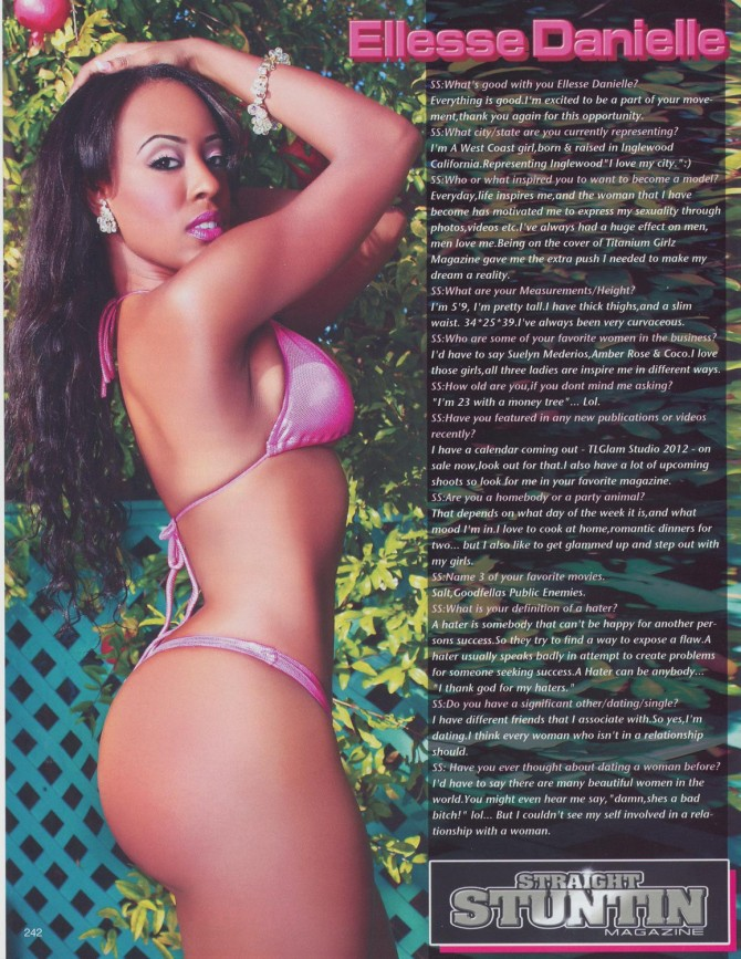 Ellesse Danielle in the latest issue of Straight Stuntin – courtesy of TL Glam Studio