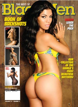 Suelyn Medeiros on the cover of Blackmen Magazine – courtesy of IEC Studios