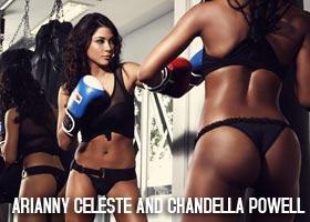 Arianny Celeste @AriannyCeleste and Chandella Powell @chandellapowell in Paparazzo Magazine