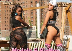 Candy Richards @Candy_Richards and Casci Sade @DJLoca_ on the cover of Straight Stuntin Issue #23