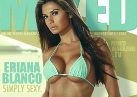Eriana Blanco @ERIANABLANCO on the cover of Mixed Magazine
